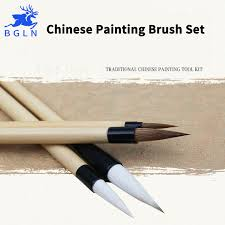 bgln 4pcs chinese writing painting brushes set calligraphy pen artist drawing brush for watercolor painting brush