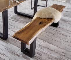 warehouse bench vig furniture modrest taylor modern live edge wood dining bench