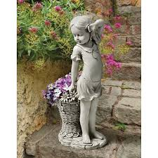 Statue For Garden Decor Cute Children Statues For Garden Boy And Girl Best Friends