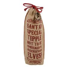 personalised hessian christmas wine bottle sack santa u0027s special