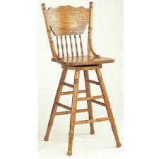 oak finish press back bar stool 5284an co idollarstore com