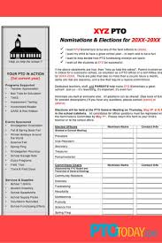 pta treasurer report template 23 best elections images on pinterest pto today teacher doing a nomination process for an upcoming election this free download will help