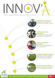 chambre d agriculture de la dordogne innov a la revue technique de la chambre d agriculture de la