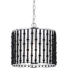 af lighting bijou collection 1 light black beads accented drum