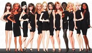imágen de barbies con vestidos negro