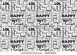 pattern design words seamless pattern words happy joy laugh stock vector hd royalty free