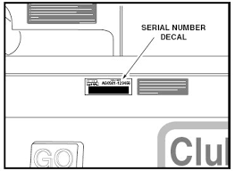 club car serial number location club car parts u0026 accessories