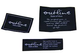design label woven eco friendly clothing woven labels customized design