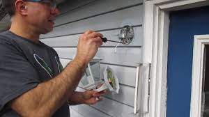 vinyl siding light mount how to replace an outside light youtube