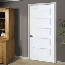 Slab Interior Door Kiby Shaker Solid Wood 5 Panel Wood Slab Interior Door Reviews