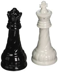 chess themed ceramic salt and pepper shakers the royal chessboard