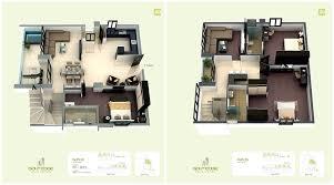 Golf Edge Floor Plans Premium 2 3 Bhk Apartments Starts From 1 Bhk Duplex House Plans