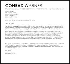 best graduate assistantship cover letter examples 60 with