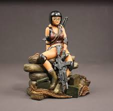 u s army delta force pin up sculpture military issue