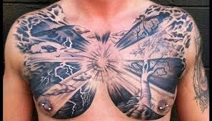 13 striking exles of chest tattoos for lifedaily
