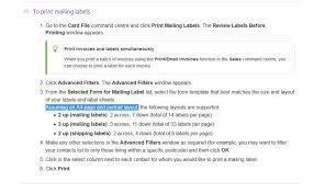 33 Labels Per Sheet Template by How To Print Label Label Printer Myob Premie Myob Community