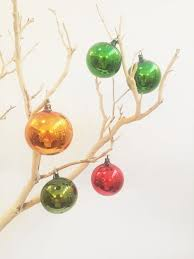mercury glass ornaments tipsypalm curated vintage market edmonton