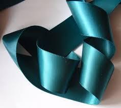 teal satin ribbon 10 yards 1 5 inches satin ribbon in teal dy15 071