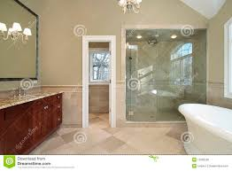 master bath with freestanding tub stock photo image 12662530