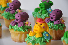 barney friends cupcakes