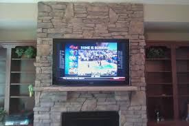mounting tv on brick fireplace binhminh decoration