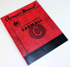 international farmall c tractor operators owners manual book