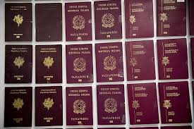 bureau in passports are displayed at the immigration bureau in on