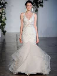 bridal wedding dresses lace mermaid wedding dress with sheer