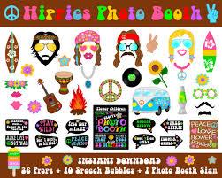 printable hippie photo booth props printable hippies photo booth props photo booth sign hippie 70 s