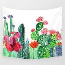 cactus home decor colorful cactus tapestry wall hanging for tropical trend home