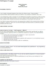 field engineer cv example u2013 cover letters and cv examples
