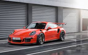 red porsche red porsche 911 gt3 rs at the gate of garages wallpapers and
