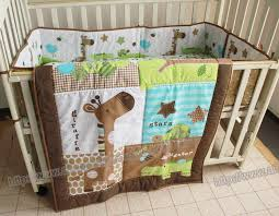 3 pieces lovely baby bedding set giraffe bedding set for baby cot