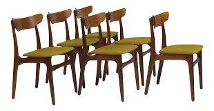 exquisite schionning u0026 elgaard danish teak dining chairs 20