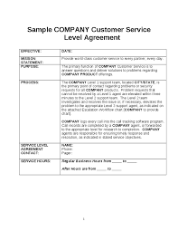 simple service contract template examples
