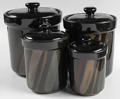 black ceramic kitchen canisters pleasing 50 kitchen canister sets black inspiration design of