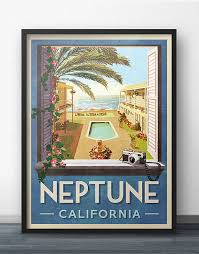 Neptune Easter Decorations by Neptune California Travel Poster Inspired By Veronica Mars