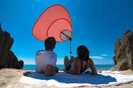 Beach Sun Umbrella Solar Umbrella Keeping You Cool And Powered At Beach
