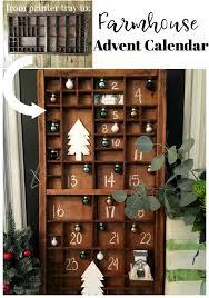 tray vintage printers antique wooden make this easy printer tray advent calendar farmhouse advent calendar refresh restyle