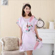 Baju Tidur plus size satin nightdress baju tidur clothes for sale in