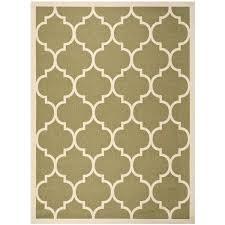 beige green green indoor outdoor rug courtyard pattern green beige indoor