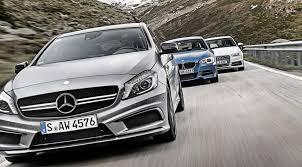 audi mercedes mercedes a45 amg vs audi s3 vs bmw m135i car test 2013 by