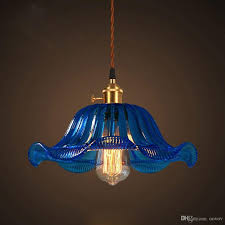 Colored Glass Pendant Lights Blue Glass Pendant Light With Spun Globe In Cerulean By Rebecca