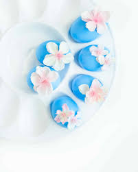 blue easter eggs cherry blossom easter eggs martha stewart