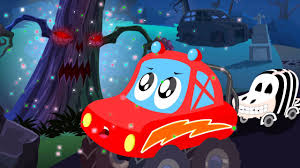 List Of Halloween Movies For Kids Little Red Car Halloween Tree Scary Car Song For Children