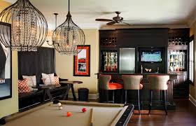 sports bar ideas for home home theater contemporary with leather