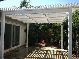 White Vinyl Pergola by The Advantages Of Installing Vinyl Patio Cover Kits