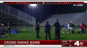 four hospitalized after smoke bomb goes off nbc southern california