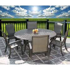 nassau outdoor patio 7pc dining set with series 5000 71