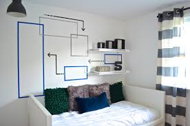 geometric wall for nest design bed ikea 2 shelves